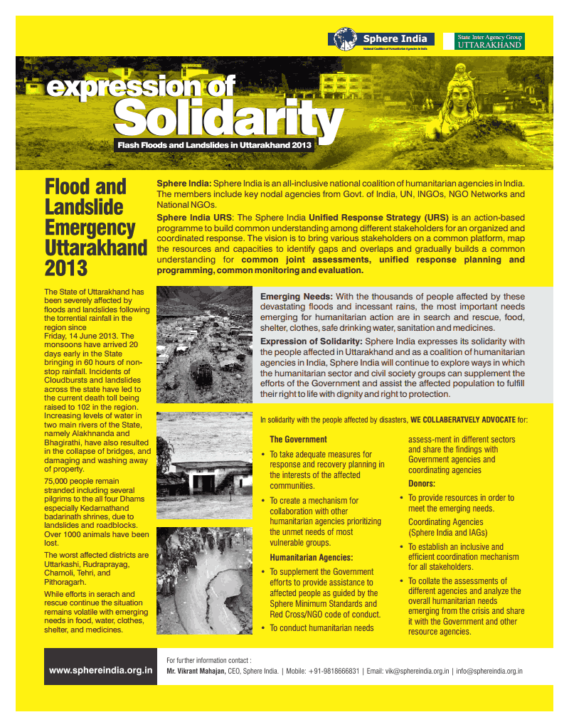 Uttarakhand Relief Work
